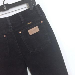 Wrangler Western Denim Jeans 30 x 36 Mens Black St